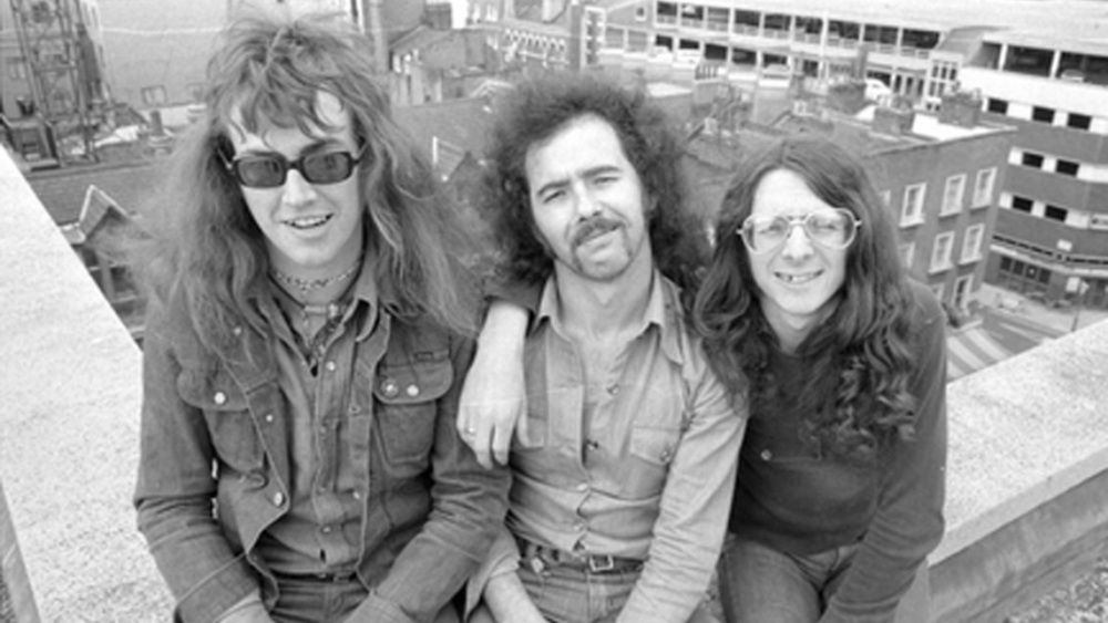 Budgie in 1974. Tony Bourge in the middle.