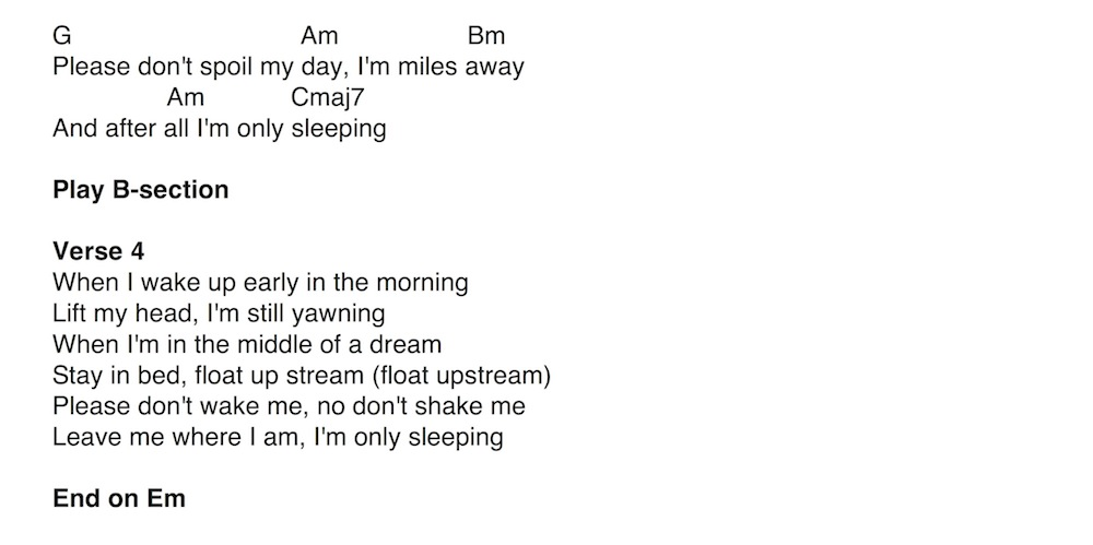 27. Song - I\'m Only Sleeping - Anyone Can Play Guitar